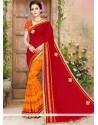 Majesty Print Work Half N Half Saree