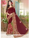 Desirable Faux Georgette Multi Colour Printed Saree