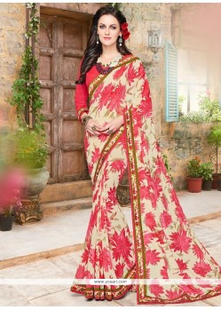 Resplendent Multi Colour Printed Saree