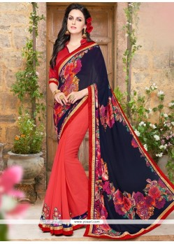 Simplistic Print Work Printed Saree