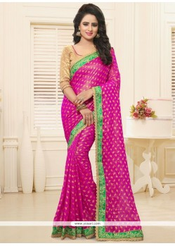 Demure Patch Border Work Saree