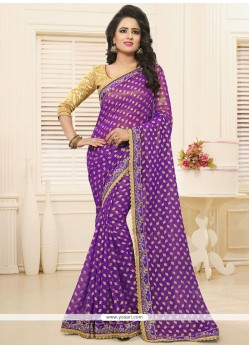 Fantastic Faux Georgette Saree