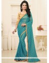 Gleaming Patch Border Work Classic Saree