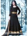 Ayesha Takia Black Embroidered Work Floor Length Anarkali Suit