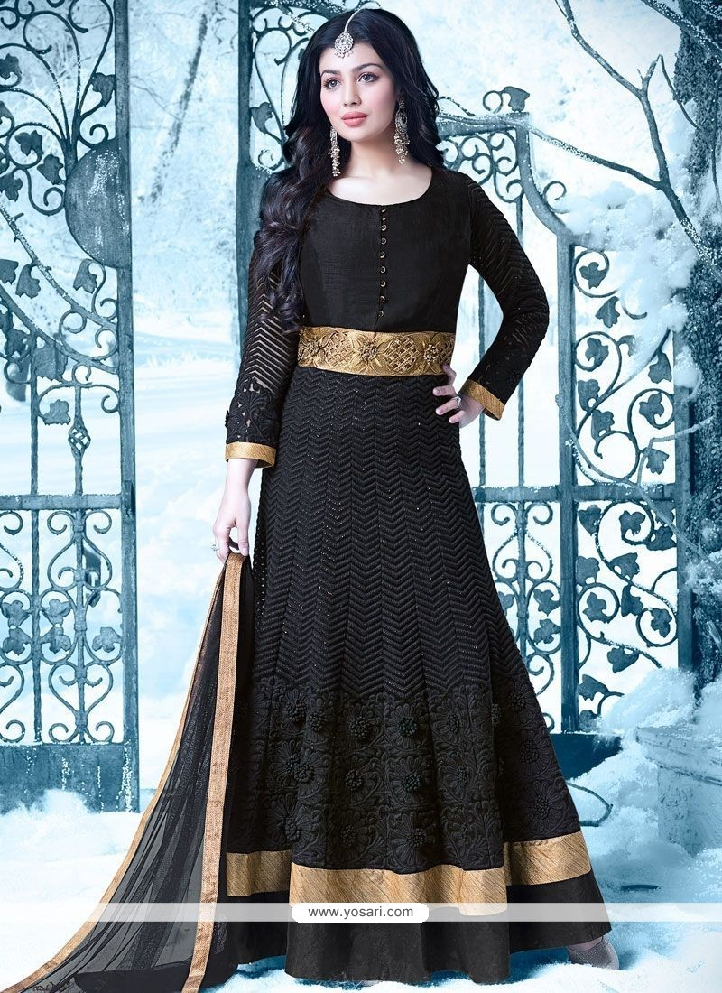 9d58961e6d Download Image · Ayesha Takia Black Embroidered Work Floor Length Anarkali  Suit