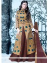 Ayesha Takia Embroidered Work Brown Long Choli Lehenga