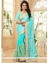 Incredible Turquoise Designer Saree