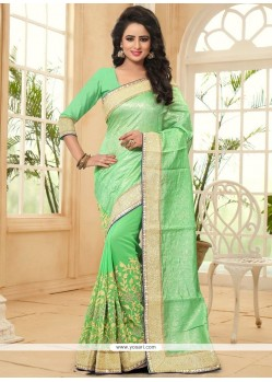 Sensible Jacquard Patch Border Work Saree