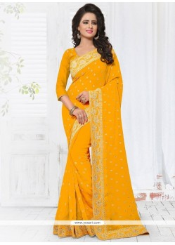 Voluptuous Faux Georgette Designer Saree