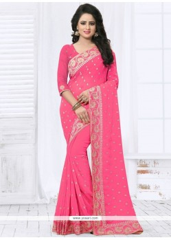Genius Faux Georgette Classic Saree