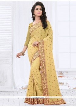 Appealing Beige Faux Georgette Saree