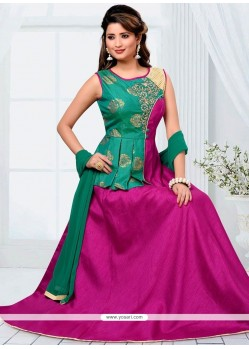Vibrant Art Raw Silk Readymade Designer Suit