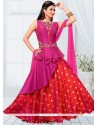Praiseworthy Magenta And Red Readymade Designer Suit