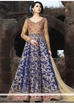 Gripping Art Silk Floor Length Anarkali Suit