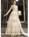 Mystic Net White Resham Work Floor Length Anarkali Suit
