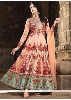 Zesty Banarasi Silk Floor Length Anarkali Suit