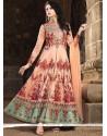 Zesty Banarasi Silk Floor Length Anarkali Suit