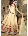 Striking Banarasi Silk Zari Work Floor Length Anarkali Suit
