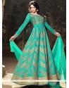 Distinguishable Resham Work Art Silk Floor Length Anarkali Suit