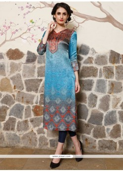 Radiant Multi Colour Digital Print Work Party Wear Kurti