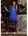 Digital Print Satin Party Wear Kurti In Multi Colour