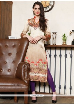 Exciting Digital Print Work Party Wear Kurti