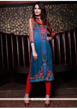 Exquisite Silk Multi Colour Party Wear Kurti