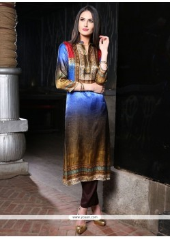 Flawless Digital Print Work Party Wear Kurti