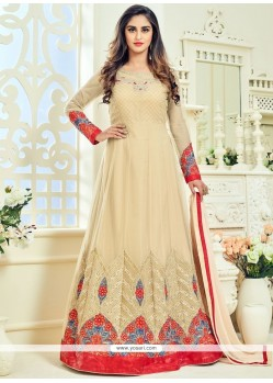 Krystle Dsouza Resham Work Floor Length Anarkali Suit