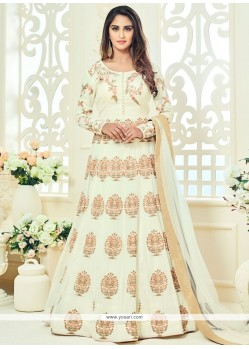 Krystle Dsouza Off White Floor Length Anarkali Suit