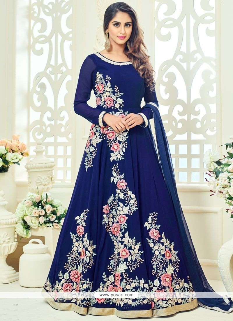 Krystle Dsouza Embroidered Work Floor Length Anarkali Suit