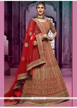 Alluring Art Silk Red Lehenga Choli