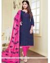 Winsome Print Work Banarasi Silk Churidar Suit