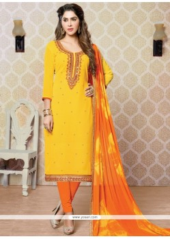 Glorious Faux Georgette Churidar Designer Suit