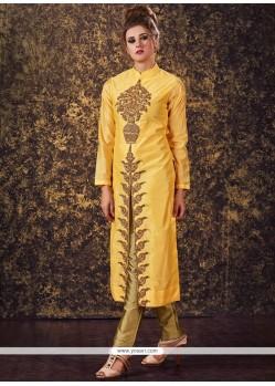 Orphic Zari Work Readymade Churidar Suit