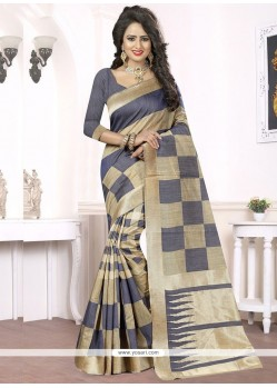 Royal Woven Work Blue Banarasi Silk Traditional Designer Saree