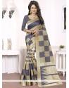 Royal Woven Work Blue Banarasi Silk Traditional Designer Saree