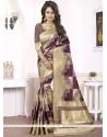 Simplistic Woven Work Magenta Designer Traditional Saree