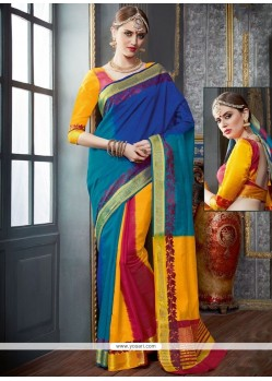 Magnetic Woven Work Tussar Silk Designer Traditional Saree