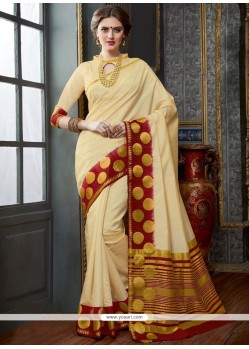 Stupendous Woven Work Traditional Designer Saree