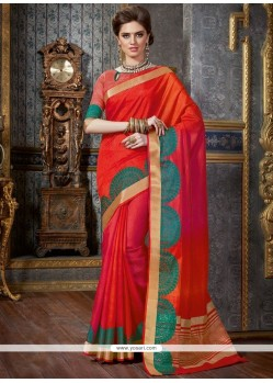 Sensible Tussar Silk Red Designer Traditional Saree