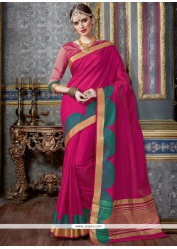 Integral Magenta Traditional Designer Saree