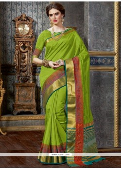 Preferable Tussar Silk Patch Border Work Traditional Saree