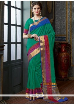 Prime Green Designer Traditional Saree