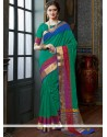 Prime Green Designer Traditional Saree