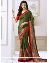 Prachi Desai Faux Georgette Print Work Casual Saree