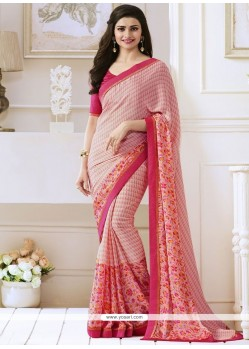 Prachi Desai Faux Georgette Casual Saree