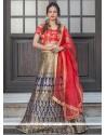 Renowned Jacquard Silk Floral Patterns Work Lehenga Choli