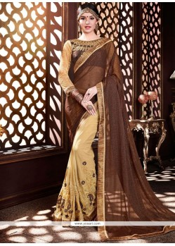 Adorable Designer Half N Half Saree For Party