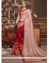 Fetching Patch Border Work Designer Half N Half Saree